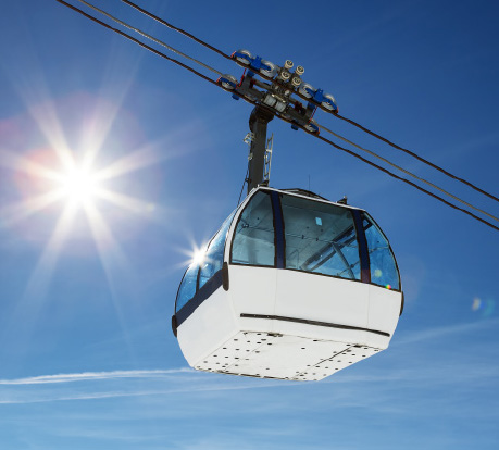 Made-to-measure gondola and chairlift windows.
