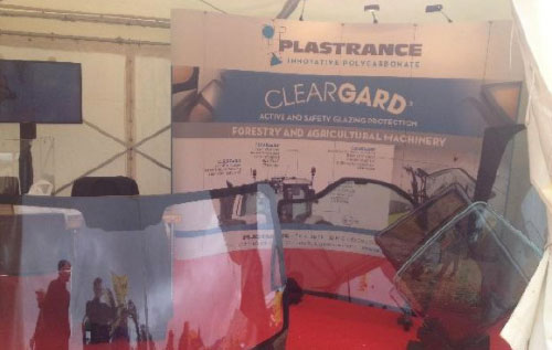Cleargard polycarbonate safety glazing was presented at the 2017 Elmia Wood Forest Show